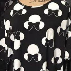 Lularoe Disney White and Black Irma